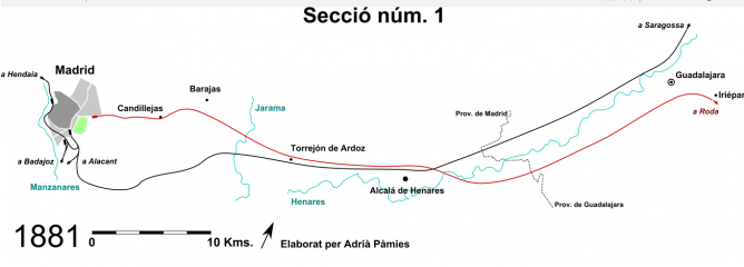Directos de Madrid a Barcelona, dibujo de Adriá Pamies