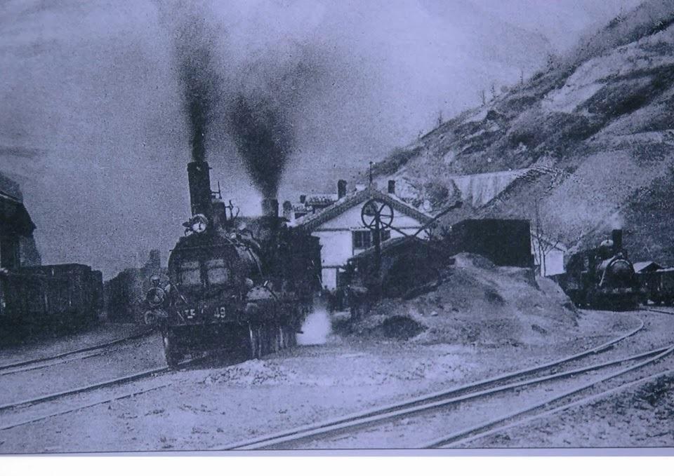 Doble traccion en Puente de los Fierros, Museo del Ferrocarril de Asturias