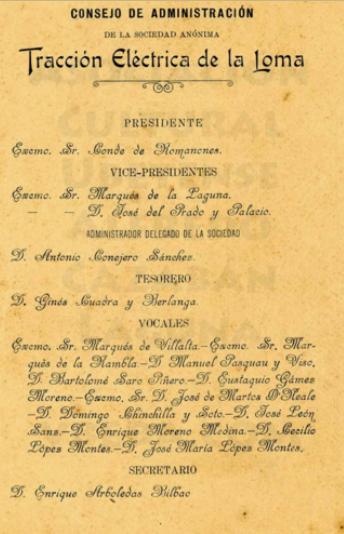 Documento donde figuran los miembros del Consejo de Administracion en 1905, archivo Asociacion Cultural Ubetense, fondo Alfredo Cazaban Laguna