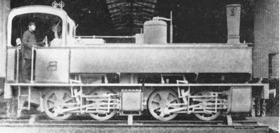 Durango a Zumarraga, locomotora rodaje Mallet , fondo MVF