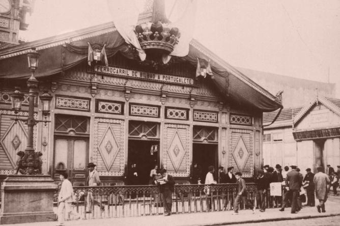 Edificio de la estación de Bilbao a Portugalete, Archivo fototeca Ayuntamiento de Bilbao