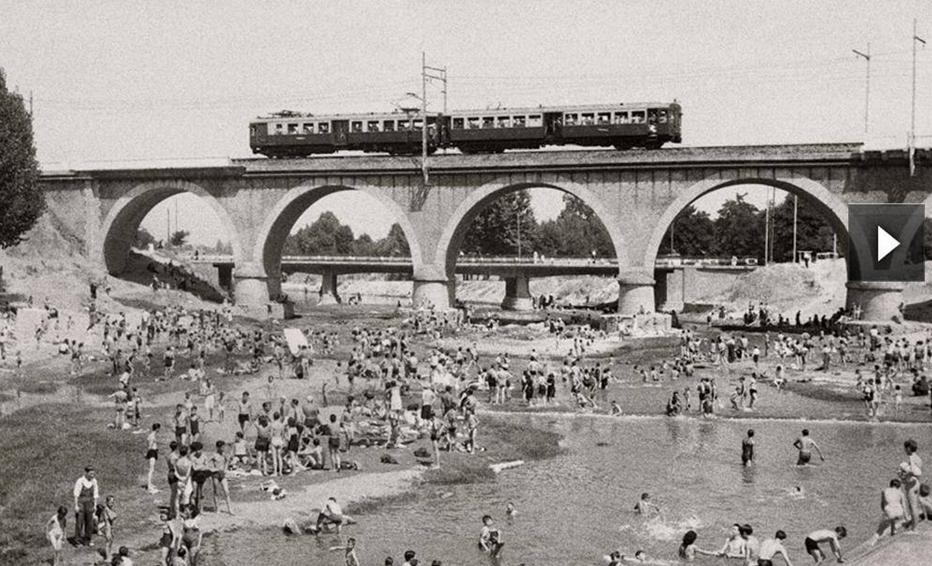 El Manzanares , Puente de los Franceses, linea de Norte , foto Santos Yubero