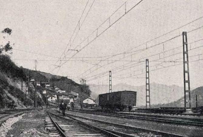 Electrificacion de Pajares , Pola de Lena , 1924, revista Ingenieria y Construccion
