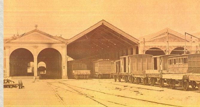 Embarcadero de Atocha, en 1863