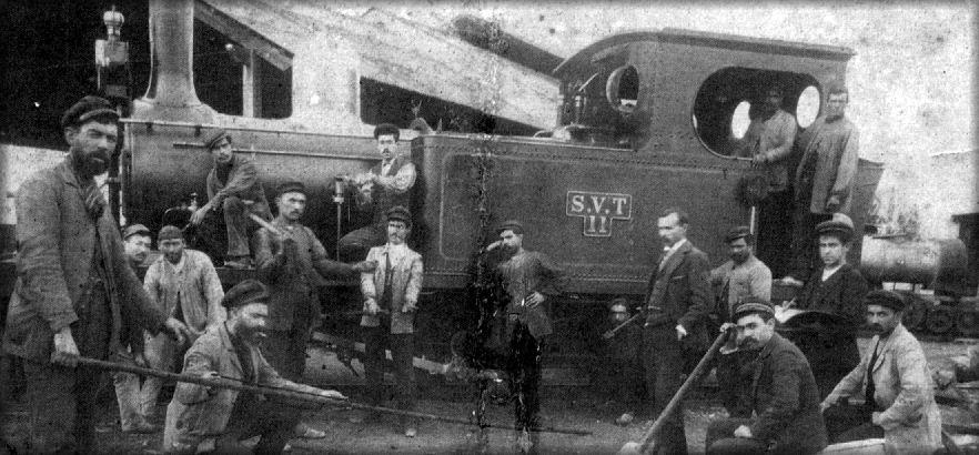 Ambiente de los talleres de la SVT, año 1900