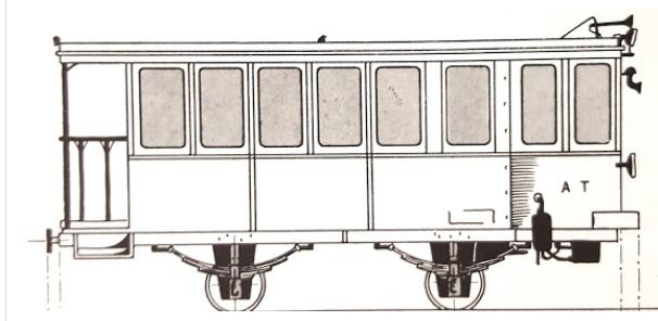 Esquema del automotor AT-4 , dibujo de Javier Aranguren