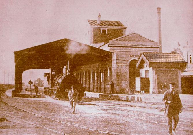 Estación de Mataro, autor desconocido, Archivo Cercle Historic Miquel Biada