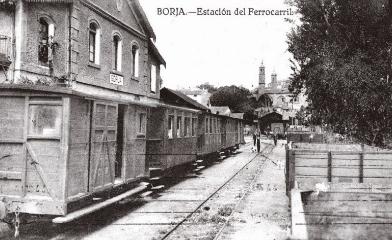 Estación de Borja , postal comercial