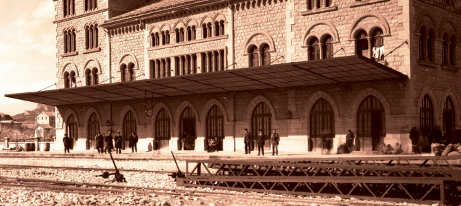 Estación de Estella en 1925