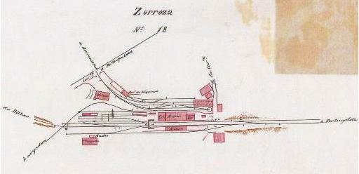 Estación de Zorroza, enlace con el Bilbao á Portugalete , archivo Euskotren