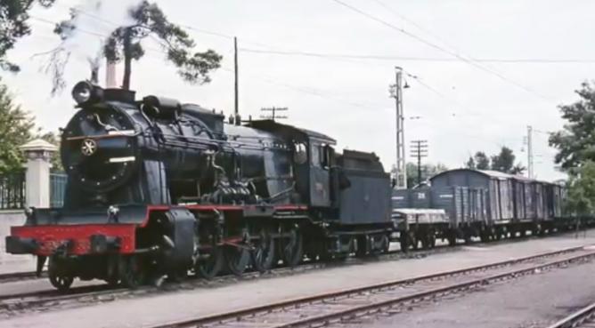 Estación de Manzanares, locomotora 240-2344, el 31.08.1965 , foto Ian Turbull