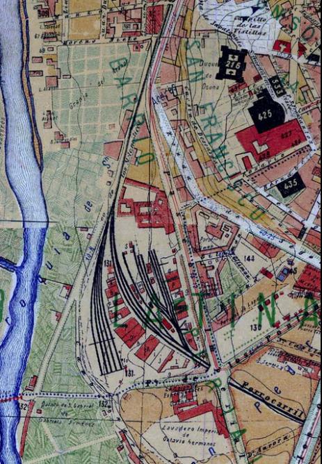Estación Imperial, Plano de Madrid de Facundo Cañadas, año 1900