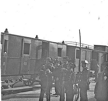 Estación de Algodor, Guardia Civil c.1900, Archivo Arcimis, Fondo Fototeca del P.H.