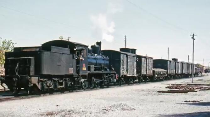Estacion de Almendricos, mercancias el 06.04.1966, foto Ian Turbull