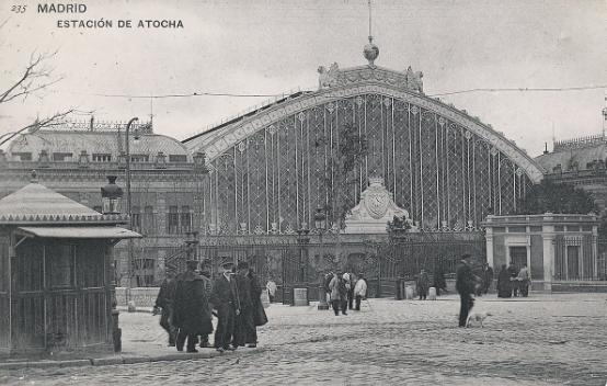 Estacion de Atocha, fototipia, T.Postal c.1900