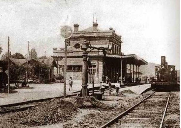 Estacion de Avilés- Linea de Villabona a Avilés