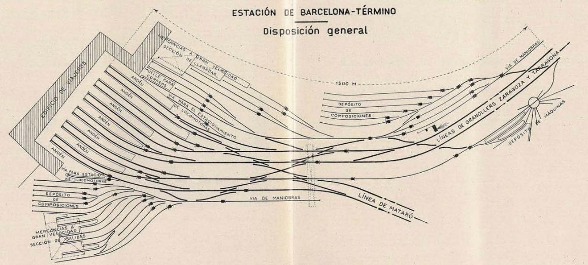 Estacion de Barcelona Término , año 1925 , revista Ingenieria y Construccion
