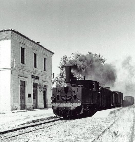 Estación de Bocairente , VAY, locomotora nº 5 , fotografo desconocido