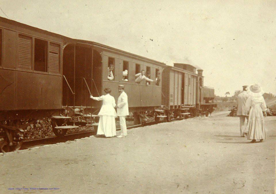 Estacion de Cadiz, 1913, foto Joaquin Turina