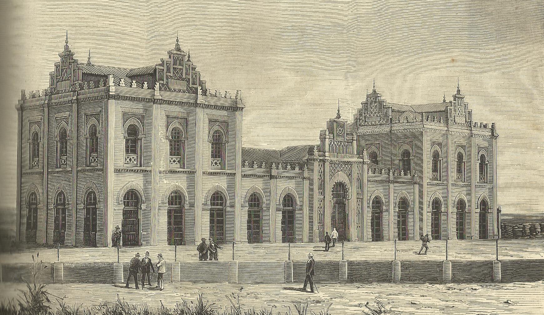 Estacion de Cadiz, La Ilustracion Española y Americana, año 1888