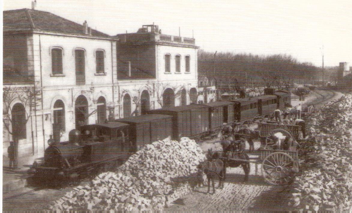 Estacion de Caldes de Montbui, hacia 1920, Coleccion Jaime Morell