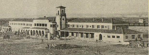 Estacion de Caminreal , inicio del Ferrocarril de Caminreal a zaragoza, año 1933 , Revista I. y C.