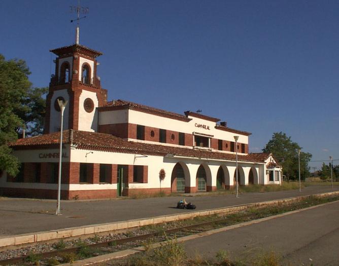 Estación de Caminreal , proyecto del Arquitecto Luis Gutierrez Soto