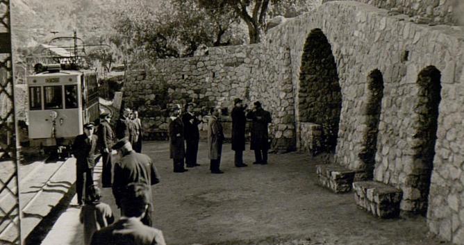 Estacion de Canales, el 16.02.1943, foto Torres Molina