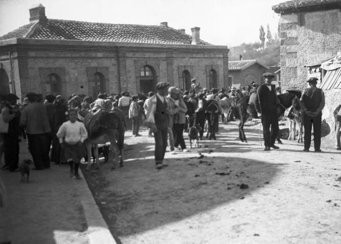 Estación de Cercedilla , foto Otto Wunderlich , c. 1925 , Fondo Fototeca del P.H.