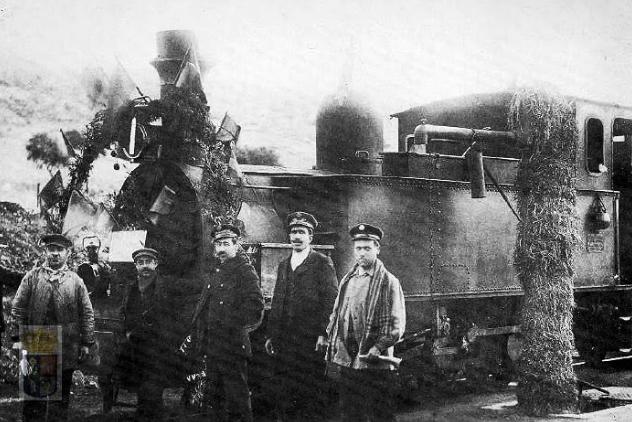 Estacion de Chinchon, año 1911. fuente Ayuntamiento de Arganda