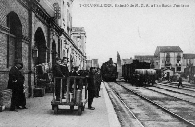 Estacion de Granollers MZA. postal comercial