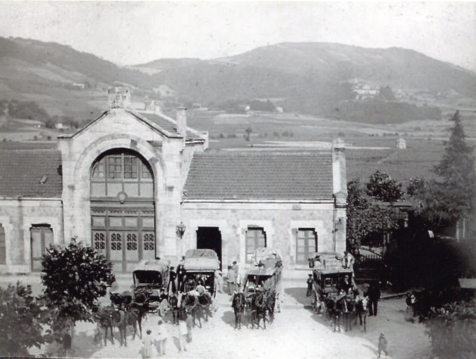 Estacion de Guernica, foto Angela Allendesalazar, Archivo Guernicarrea Historia Taldea