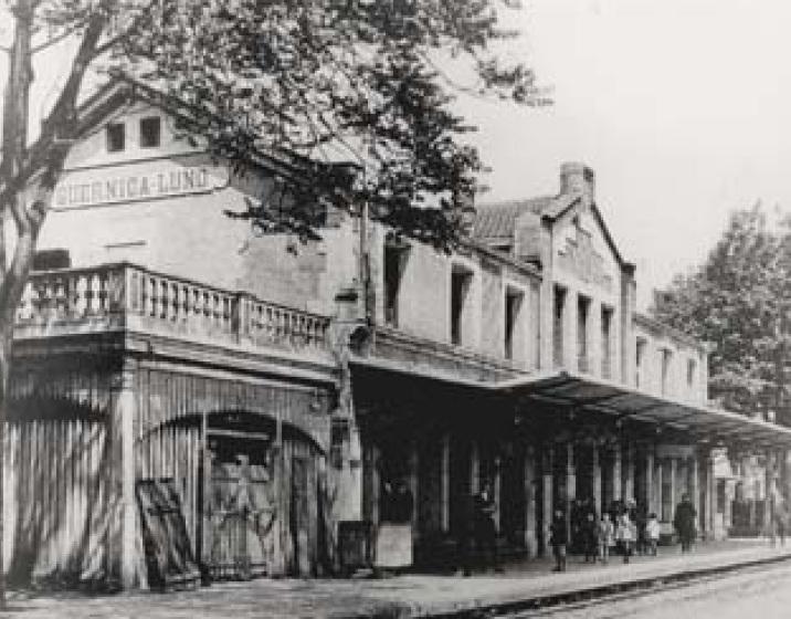 Estacion de Guernika , año 1928, fondo AGHT