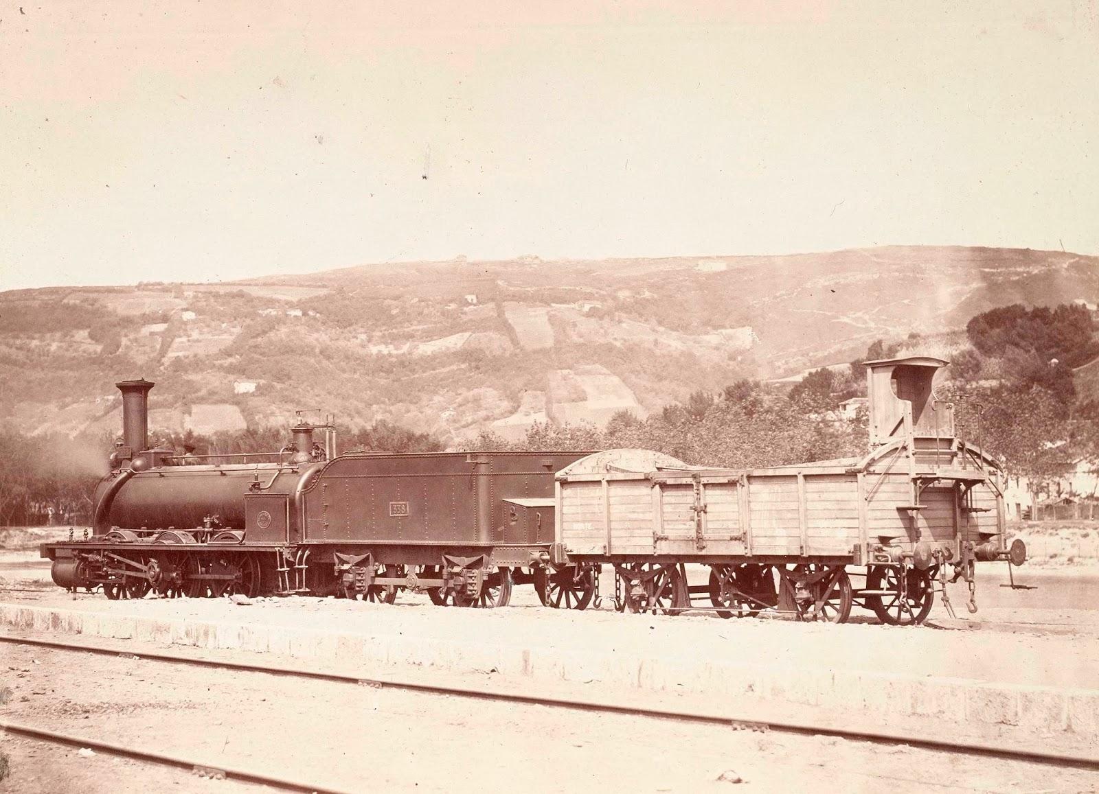 Estacion de Irun año 1864, foto Jean Laurent, Archivo BNE