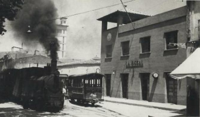 Estacion de La Bisbal. Fotografo Riera