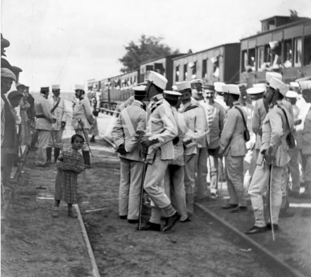 Estacion de Leganes, embarque de tropas de los regimientos de Wad Ras y de Saboya, el 15.09.1921, archivo Eduardo Cuenca