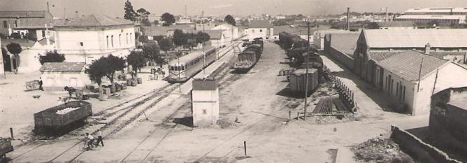 Estación de Manises, 14 de julio de 1953 , foto Antonio Segura