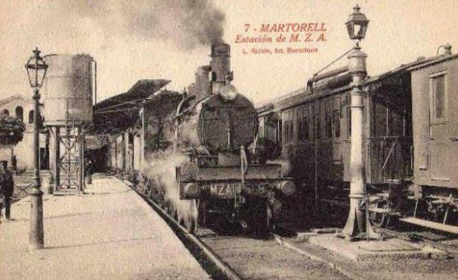 Estacion de Martorell- MZA , postal comercial