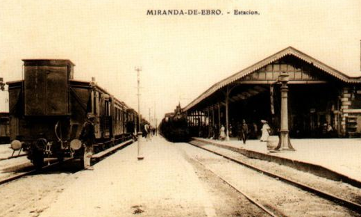 Estacion de Miranda de Ebro, postal comercial