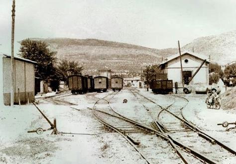Estación de Muro , Vay, conexión del Villena a Alcoy y del Alcoy a Gandia,