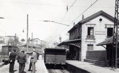 Estación de Ortuella. c. 1945, archivo MVF