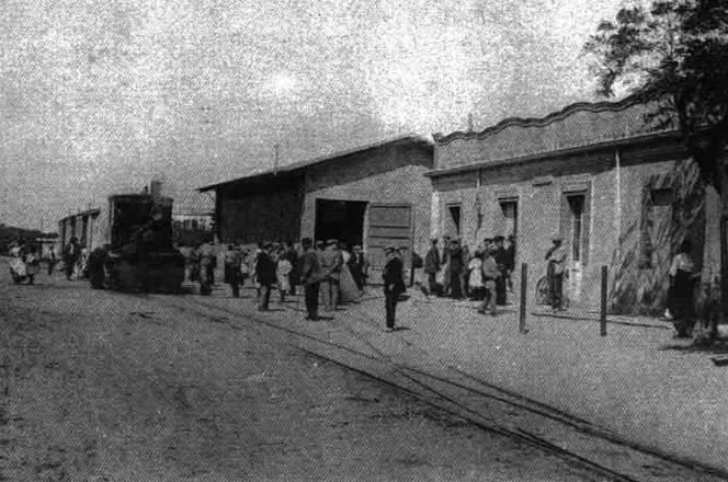 Estacion de Palafrugell c.1905 . Archivo C. Salmeron