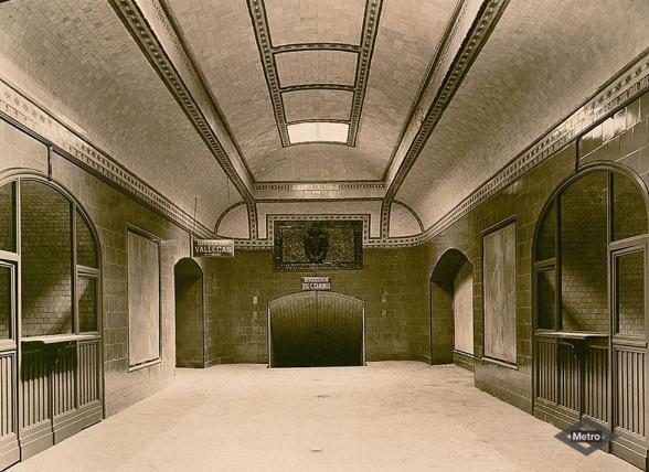 Estacion de Progreso en 1920, actualmente Maria de Molina , Archivo Fot. Metro de Madrid