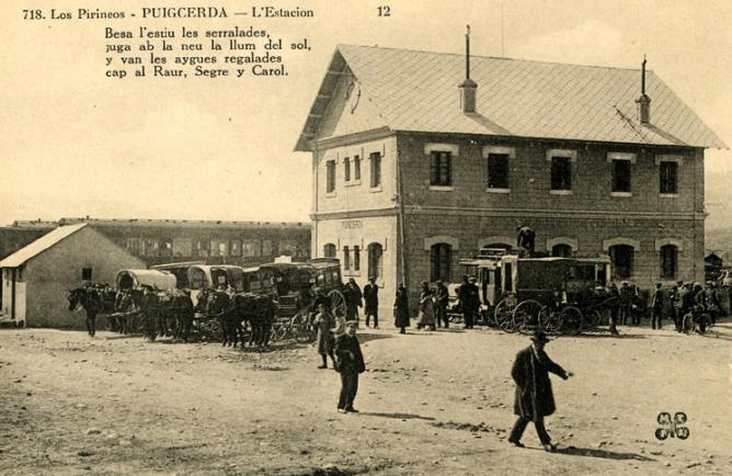 Estación de Puigcerdá , postal comercial