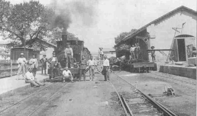 Estacion de Sa Pobla año 1930, fondo Joan Llabres