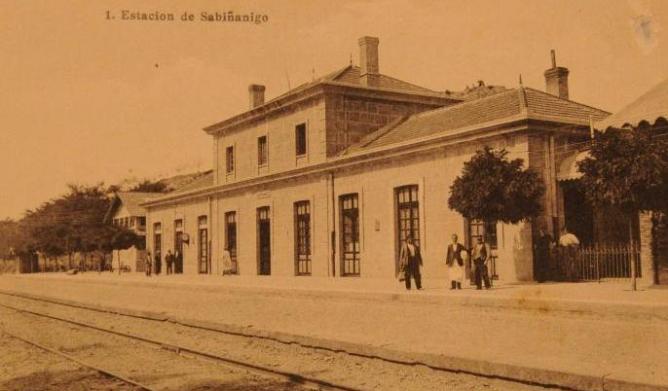Estacion de Sabiñanigo, postal comercial