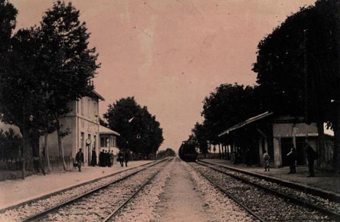 Estación de Salvatierra, fototeca de la Diputacion Foral de Alava