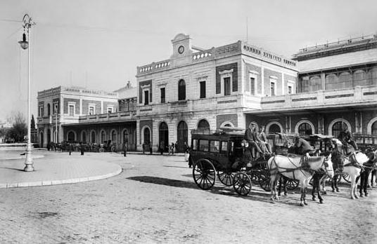 Estación de San Bernardo. Sevilla c. 1906, coleccion Thomas , IEFC -ACM 3-2806