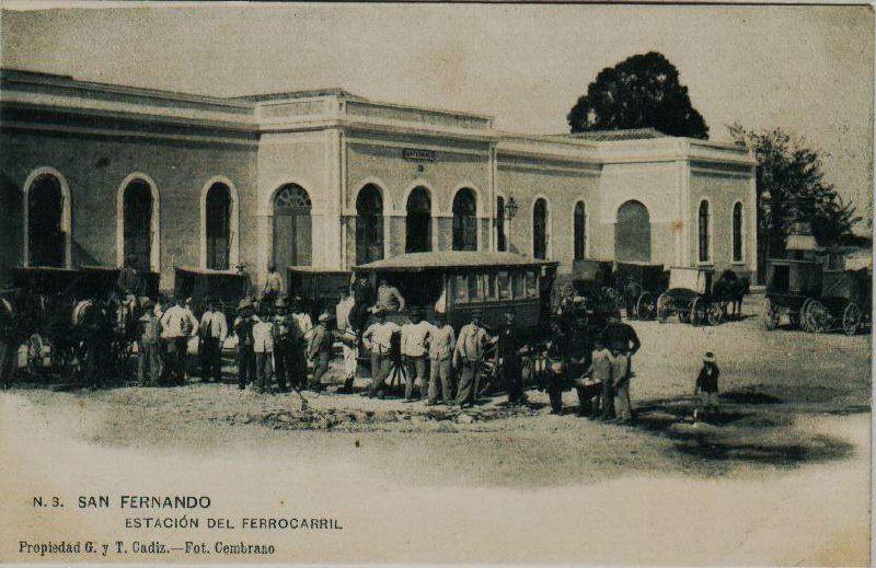 Estacion de San Fernando (Cadiz) Postal comercial
