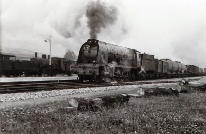 Estación de Santa Olalla, año 1965, foto Xavier Santamaria